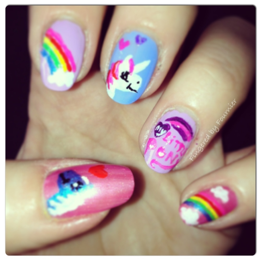My little pony nail art is magic fingeredbyfournier my little pony 20130218 142655g prinsesfo Gallery